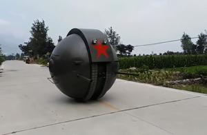 我国造出传说中的球形坦克,外形十分威猛,能够反弹大量攻击