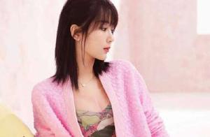 杨紫春夏油画风大片,粉棕色调与油画质感相糅合,复古又优雅