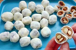 最近超火的「雪花奶枣」,想吃不用排队,教你在家做,简单易学