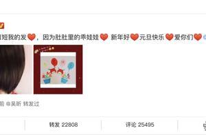 新年第一天,谢娜发博宣布怀二胎,张杰回应又要取名字啦