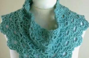 优雅又时髦!超多款钩针编织的女士围巾,喜欢的姐妹可仿