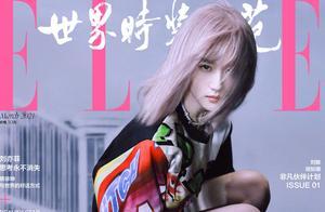 刘亦菲新封面挑战粉金发造型,被嘲认不出变普通,与女爱豆撞脸