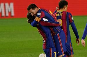 7连胜!8场10球的梅西成巴萨最大功臣,但8分之差或无缘争冠