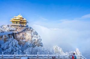 老君山的世界级雪景,雾凇云海!惊艳了整个华夏,仿佛误入天宫