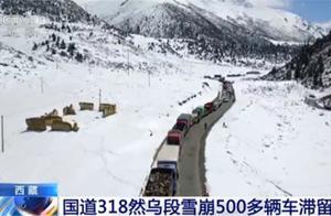 交通一度中断!国道318线西藏昌都境内然乌段突发雪崩