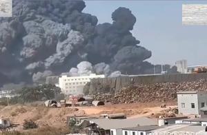 浙江一化工厂发生火灾,现场黑烟滚滚火势惊人,尚未出现人员伤亡