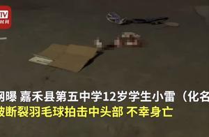 12岁男生被断裂羽毛球拍插入头部身亡,校方回应