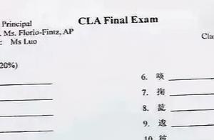 """纽约高中""""中文试卷""""走红,第一题网友就看懵了:我上的是假学?"""