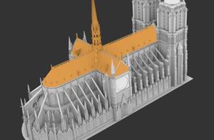 可视化   10 张 3D 建模图还原「巴黎圣母院」火灾细节