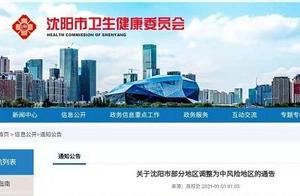 辽宁沈阳市新增5地为中风险地区