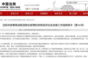 即日起沈阳市中小学暂停一切线下教育教学活动 幼儿园暂时停园