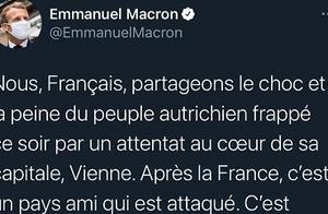 法国总统马克龙就奥地利维也纳袭击事件表态