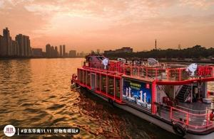 广州中轴线亮起京东11.11全球好物节,京东号游船瞩目珠江