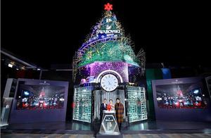 2018施华洛世奇「璀璨圣诞树」携手品牌大使江疏影开启帝都亮灯仪式