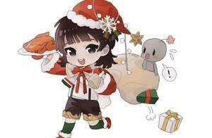 181219 华晨宇圣诞节饭绘来袭 小迷糊边走边掉礼物?