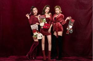 R.E.D女子组合圣诞写真曝光 经典红色抢眼夺目