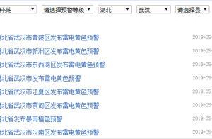 武汉1小时发8条天气预警:这些地方将有雷电活动,还有大雨大风