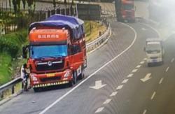菏泽视频巡查显神威 监控下高速应急车道违停众生相