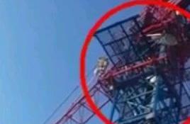 """诸暨""""阿汤哥""""奋不顾身!急救医生徒手攀爬10层楼高的塔吊救人"""