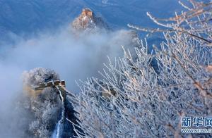 北京:长城雪景如画