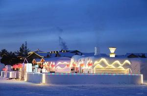 """四川游客体验中国""""最北""""冰雪旅馆:想在里面吃火锅"""