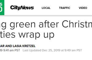 圣诞节过完,圣诞树和节日垃圾要怎么处理?