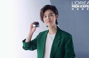 200221 鹿晗代言男士品牌全新广告 这位型男的偏分+长发帅的有点离谱