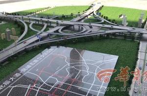 西安在建最大立交桥项目计划年底通车 采用双向六车道