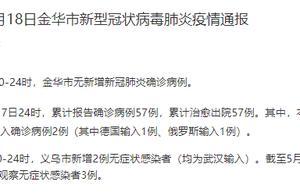浙江义乌公布2例无症状感染者轨迹(均为武汉输入):一人自驾到义乌旅游,一人乘火车到达