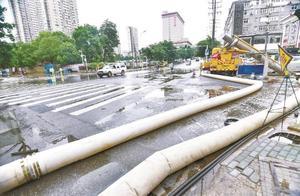 23小时抽排2400万立方米!一夜暴雨后,武汉三镇无明显渍水