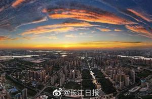武汉霞光满天|图集