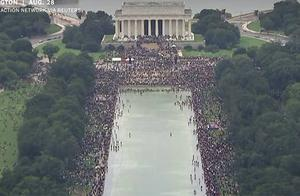 马丁·路德·金演讲57周年,美国抗议者在华盛顿特区召开抗议集会