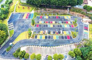 北碚:更加方便快捷 首个彩色户外停车场正式投用