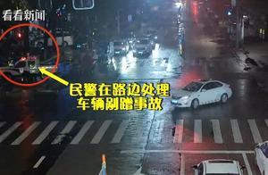"""男子醉驾还围观车祸现场 撞上护栏""""自投罗网"""""""