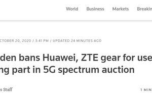 瑞典宣布:禁止参加5G频谱拍卖企业使用华为、中兴设备