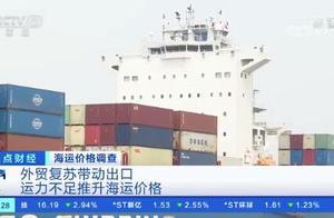海运价格飞涨近3倍 海运航线一柜难求