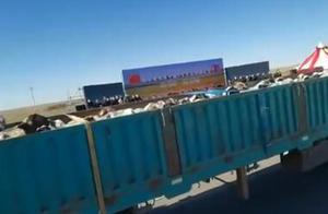 今天,首批4000只蒙古捐赠羊经二连浩特口岸入境中国