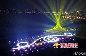 九龙湖公园音乐喷泉开始调试