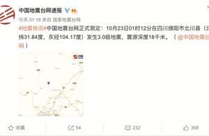 今天凌晨,四川俩小时内连发三次地震,又是同一位置