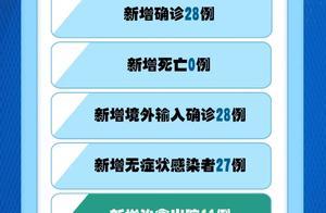 10月23日:新增确诊28例,均为境外输入