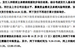 蚂蚁集团发行价公布:A股68.80元/股,港股80港元/股丨热公司