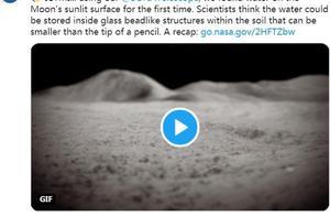 月球表面太阳照射处也存在水?NASA公布最新发现