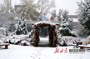 甘肃迎区域性雨雪 临夏州现10月份史上最强暴雪