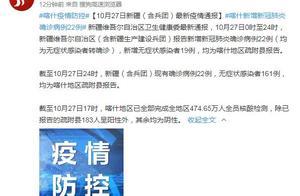 新疆新增本土确诊22例 10月28日喀什疫情最新通报