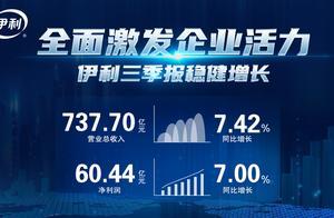 伊利股份前三季度营收737.7亿