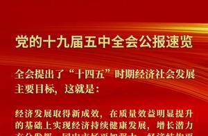 """党的十九届五中全会公报速览丨全会提出了""""十四五""""时期经济社会发展主要目标"""