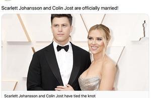 修成正果!斯嘉丽·约翰逊官宣与科林·乔斯特已成婚并举办婚礼