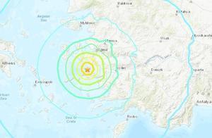 希腊萨摩斯岛附近强震引发小型海啸 部分建筑物受损