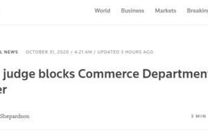 最新!美法官阻止TikTok技术交易禁令