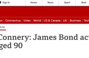 """突发!初代""""007""""扮演者肖恩·康纳利去世,享年90岁"""
